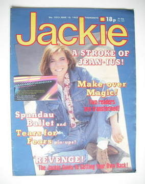 <!--1983-06-18-->Jackie magazine - 18 June 1983 (Issue 1015)