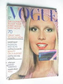 British Vogue magazine - April 1972