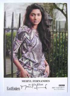 Meryl Fernandes autographed photo (EastEnders actor)