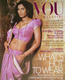 <!--2004-12-19-->You magazine - Padma Lakshmi cover (19 December 2004)