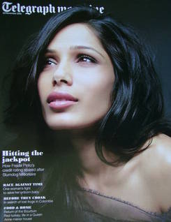 <!--2010-11-20-->Telegraph magazine - Freida Pinto cover (20 November 2010)
