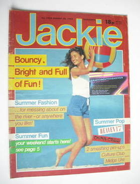 <!--1983-08-20-->Jackie magazine - 20 August 1983 (Issue 1024)