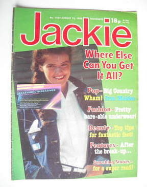 <!--1983-08-13-->Jackie magazine - 13 August 1983 (Issue 1023)