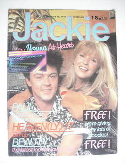 <!--1983-12-10-->Jackie magazine - 10 December 1983 (Issue 1040 - Paul Youn