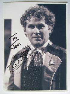 Colin Baker autograph (hand-signed photograph, dedicated)