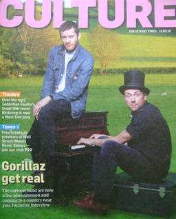 <!--2010-09-19-->Culture magazine - Jamie Hewlett and Damon Albarn cover (1