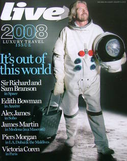 Live magazine - Richard Branson cover (6 January 2008)