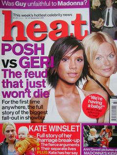<!--2001-09-15-->Heat magazine - Victoria Beckham and Geri Halliwell cover
