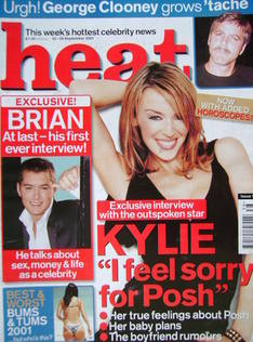 <!--2001-09-22-->Heat magazine - Kylie Minogue cover (22-28 September 2001