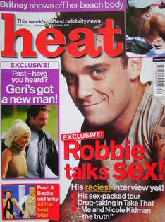 <!--2001-09-29-->Heat magazine - Robbie Williams cover (29 September - 5 Oc