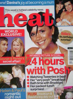 <!--2001-10-06-->Heat magazine - Victoria Beckham cover (6-12 October 2001