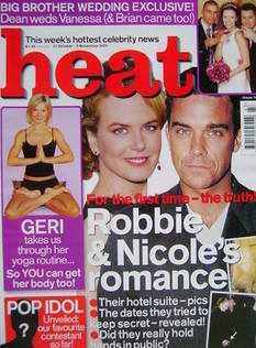 Heat magazine - Nicole Kidman and Robbie Williams cover (27 October - 2 November 2001 - Issue 140)