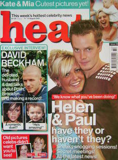 Heat magazine - Helen Adams and Paul Clarke cover (11-17 August 2001 - Issue 129)