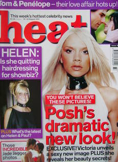 <!--2001-08-18-->Heat magazine - Victoria Beckham cover (18-24 August 2001