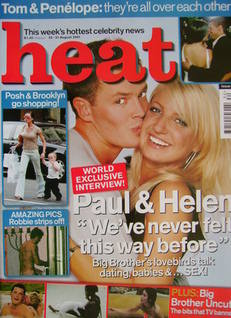 <!--2001-08-25-->Heat magazine - Helen Adams and Paul Clarke cover (25-31 A