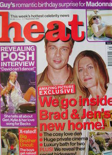 <!--2001-09-01-->Heat magazine - Brad Pitt and Jennifer Aniston cover (1-7