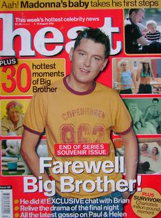Heat magazine - Brian Dowling cover (4-10 August 2001 - Issue 128)