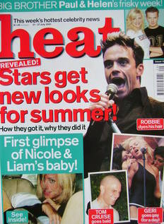 Heat magazine - Robbie Williams cover (21-27 July 2001 - Issue 126)