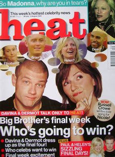 Heat magazine - Dermot O'Leary and Davina McCall cover (28 July - 3 August 2001 - Issue 127)
