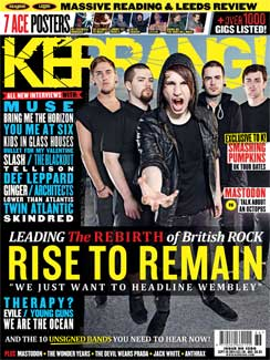 <!--2011-09-10-->Kerrang magazine - Rise To Remain cover (10 September 2011