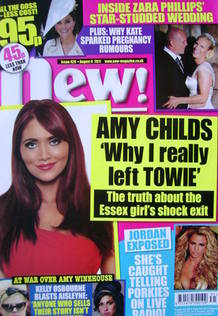 <!--2011-08-08-->New magazine - 8 August 2011 - Amy Childs cover