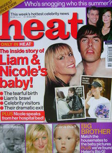 Heat magazine - Nicole Appleton and Liam Gallagher cover (14-20 July 2001 - Issue 125)