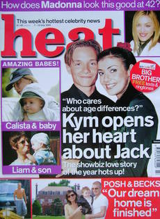 <!--2001-07-07-->Heat magazine - Jack Ryder and Kym Marsh cover (7-13 July