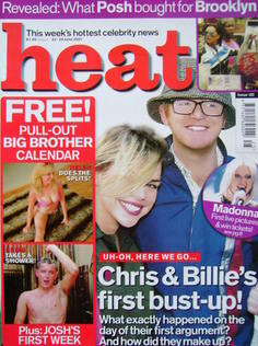<!--2001-06-23-->Heat magazine - Chris Evans and Billie Piper cover (23-29