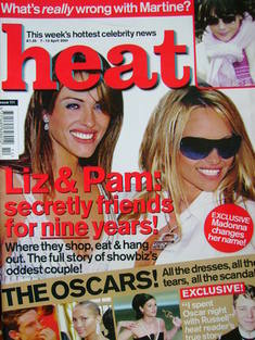 <!--2001-04-07-->Heat magazine - Liz Hurley and Pamela Anderson cover (7-13