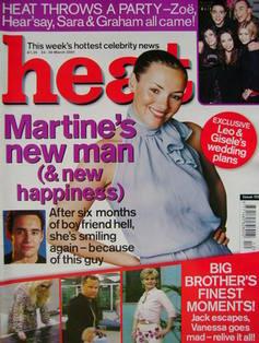 <!--2001-03-24-->Heat magazine - Martine McCutcheon cover (24-30 March 2001
