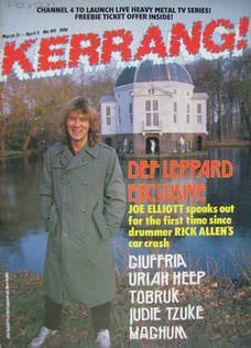 <!--1985-03-21-->Kerrang magazine - Joe Elliott cover (21 March - 3 April 1