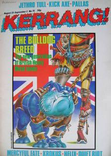 <!--1984-08-23-->Kerrang magazine - The Bulldog Breed cover (23 August - 5