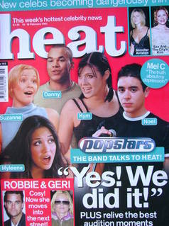 <!--2001-02-10-->Heat magazine - Popstars cover (10-16 February 2001 - Issu