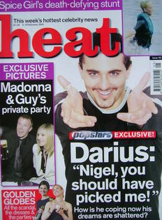 <!--2001-02-03-->Heat magazine - Darius Danesh cover (3-9 February 2001 - I