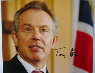 Tony Blair autograph