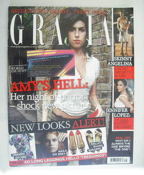 <!--2007-09-03-->Grazia magazine - Amy Winehouse cover (3 September 2007)