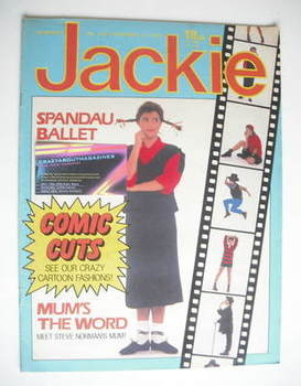 <!--1983-11-19-->Jackie magazine - 19 November 1983 (Issue 1037)