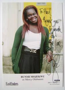 Bunmi Mojekwu autograph (ex EastEnders actor)