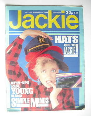 <!--1984-11-17-->Jackie magazine - 17 November 1984 (Issue 1089)