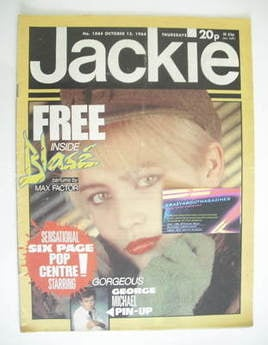 <!--1984-10-13-->Jackie magazine - 13 October 1984 (Issue 1084)