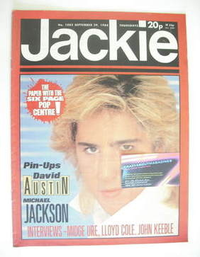 <!--1984-09-29-->Jackie magazine - 29 September 1984 (Issue 1082 - David Au