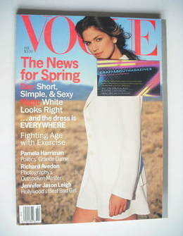 US Vogue magazine - February 1994 - Cindy Crawford cover