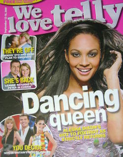 We Love Telly magazine - Alesha Dixon cover (12-18 September 2009)