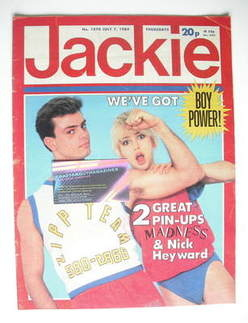 <!--1984-07-07-->Jackie magazine - 7 July 1984 (Issue 1070)