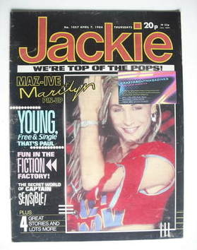 <!--1984-04-07-->Jackie magazine - 7 April 1984 (Issue 1057 - Marilyn cover