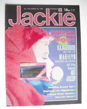 <!--1984-03-24-->Jackie magazine - 24 March 1984 (Issue 1055)
