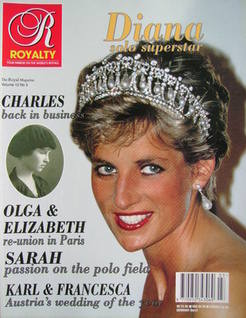 Royalty Monthly magazine - Princess Diana cover (Vol.12 No.3, 1993)