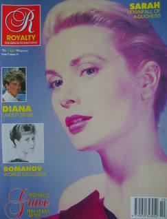 Royalty Monthly magazine - Princess Grace cover (Vol.11 No.10, 1992)