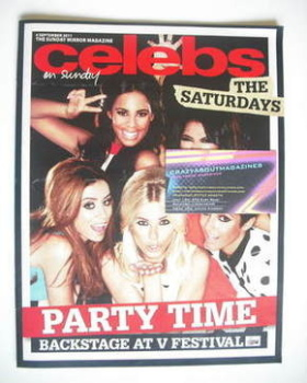 Celebs magazine - The Saturdays cover (4 September 2011)
