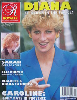 Royalty Monthly magazine - Princess Diana cover (Vol.11 No.11, 1992)